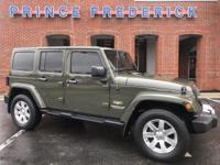 2015 JEEP WRANGLER 4 DOOR SAHARA WITH JUST 31K MILES!