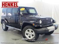 Options:  2015 Jeep Wrangler Unlimited Sahara 4X4|Black