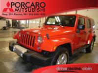 Options:  2015 Jeep Wrangler Unlimited Sahara|Red|Black