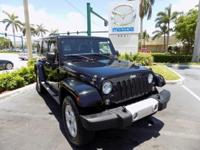 2015 Jeep Wrangler Unlimited Sahara in Black Clearcoat,