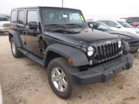 Options:  2015 Jeep Wrangler Unlimited Sport 4X4|Take