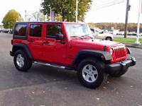 Options:  2015 Jeep Wrangler Unlimited Sport|Red|Clean