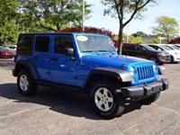 Options:  2015 Jeep Wrangler Unlimited Sport|Blue|New