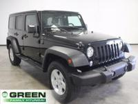 2015 Jeep Wrangler Unlimited Sport Black Clearcoat 4WD