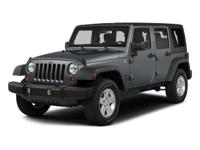 CARFAX One-Owner. Clean CARFAX. 2015 Jeep Wrangler