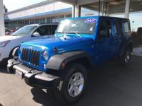 Options:  2015 Jeep Wrangler Unlimited Sport|Hydro Blue