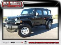 Options:  2015 Jeep Wrangler Unlimited Sport|Black