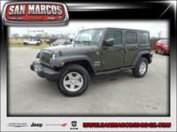 Options:  2015 Jeep Wrangler Unlimited Sport|Green/|V6