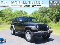 2015 JEEP WRANGLER UNLIMITED SPORT IN BLACK CLEARCOAT!!