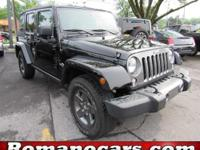 This 2015 jeep wrangler has a softop, moonroof, and