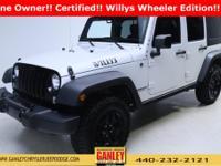 Jeep Wrangler Unlimited Sport 2015 Certified. Chrysler