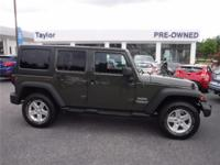 CARFAX 1-Owner! This 2015 Jeep Wrangler Unlimited Sport