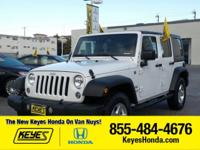 Options:  2015 Jeep Wrangler Unlimited|White/|V6 3.6 L