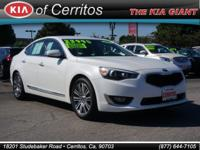 Cadenza Premium, 4D Sedan, V6, White, and Black. So