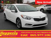 Clean CARFAX. This 2015 Kia Forte EX in Snow White
