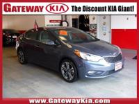 CARFAX One-Owner. Clean CARFAX. Blue 2015 Kia Forte EX