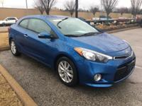 New Price! CARFAX One-Owner. Blue 2015 Kia Forte Koup