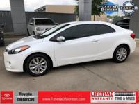 CARFAX One-Owner. Clean CARFAX. White 2015 Kia Forte