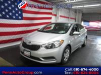 CARFAX One-Owner. Gray 2015 Kia Forte LX FWD 6-Speed