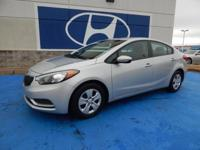 We are excited to offer this 2015 Kia Forte. Drive home