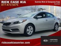2015 Kia Forte LX in Silver, 1 Owner, 10 year or