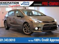 New Price! Certified. Gray 2015 Kia Forte SX FWD