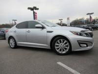 Clean CARFAX. Silver 2015 Kia Optima EX FWD 6-Speed