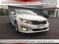 Certified. White 4D Sedan 2015 Kia Optima EX FWD
