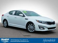 Options:  2015 Kia Optima Ex|Snow White Pearl/Beige|V4