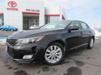 This 2015 Kia Optima comes equipped with heated leather