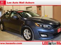 CARFAX One-Owner. Clean CARFAX. Blue 2015 Kia Optima LX
