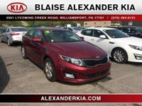 2015 Kia Optima LX 2.4L I4 DGI DOHC CERTIFIED, ONE