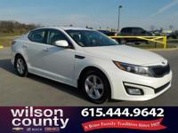 2015 Kia Optima LX 2.4L I4 DGI DOHC White Clean CARFAX.