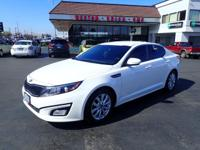 CARFAX One-Owner. 2015 Kia Optima LX White One Owner,