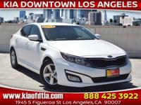 Clean CARFAX. White 2015 Kia Optima LX 4D Sedan FWD