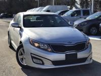2015 Kia Optima LX Silver 23/34 City/Highway MPG Clean