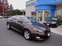 ONE OWNER, ACCIDENT FREE CARFAX, DARK CHERRY 2015 KIA