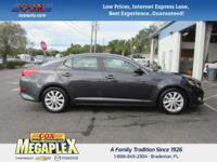 This 2015 Kia Optima LX in Black is well equipped with: