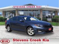 Options:  2015 Kia Optima Lx Sedan|Blue|4-Cyl 2.4