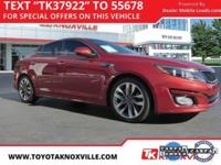 Maroon 2015 Kia Optima SX Turbo FWD 6-Speed Automatic