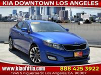 CARFAX One-Owner. Clean CARFAX. Blue 2015 Kia Optima SX
