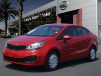 Treat yourself to this 2015 Kia Rio LX, which features