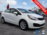 Options:  2015 Kia Rio Lx|White|**Clean Carfax**|**One