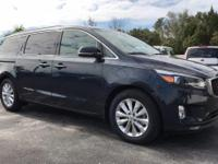 2015 Kia Sedona EX Deep Formal Blue CARFAX One-Owner.