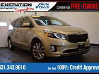 New Price! Certified. Tan 2015 Kia Sedona EX FWD