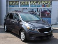 Gray 2015 Kia Sedona LX FWD 6-Speed Automatic with
