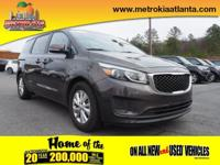 It doesn't get much better than this 2015 Kia Sedona