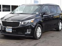 The Kia Sedona offers extra seating capacity for two-