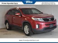 CARFAX One-Owner. 2015 Kia Sorento LX in Remington Red