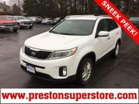 Options:  2015 Kia Sorento Lx|White|*$300 Awd 3Rd Row